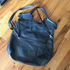 Foley & Corinna Gray Leather city tote handbag